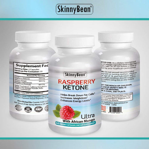 RASPBERRY KETONE PLUS Ketones Potent Fat Burner Capsules PLUS African Mango extract powder for weight loss diet pills with grape seed & apple cider vinegar