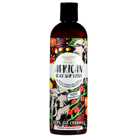 Equate Beauty African Black Soap Lotion, 12 fl ozEquate Beauty African Black Soap Lotion, 12 fl oz