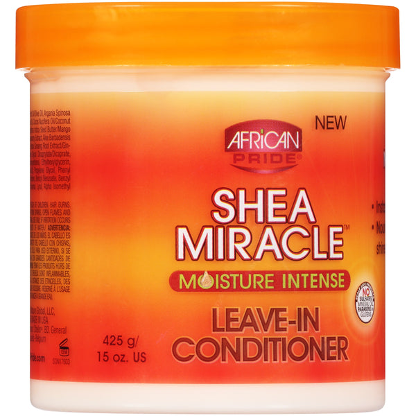 (2 Pack) African Pride Shea Miracle Moisture Intense Leave-In Conditioner 15 oz.