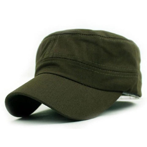Unisex Fashion Casual hat Classic Plain Vintage Army Cadet Style Cotton Cap Hat Solid Adjustable Hat