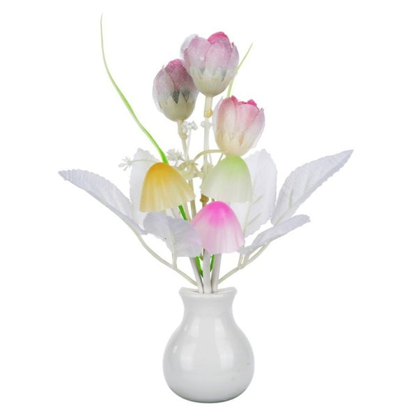 Novelty Silicone Flower Romantic Bed Lamp