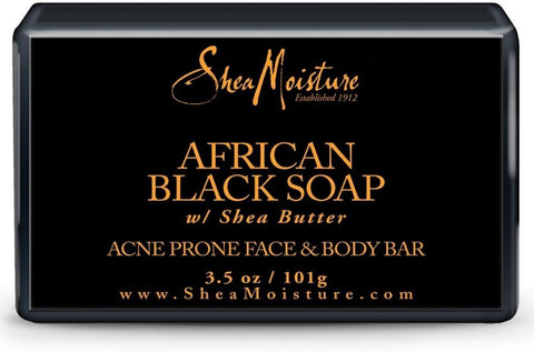 2 Pack - Shea Moisture African Black Soap Facial Bar Soap 3.5 oz