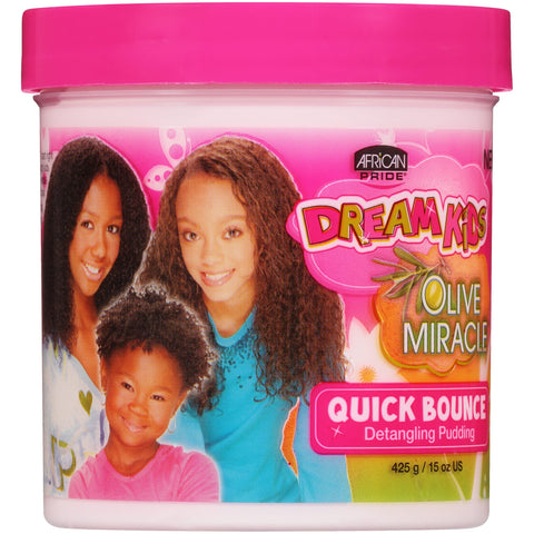(2 Pack) African Pride Dream Kids Olive Miracle Quick Bounce Detangling Pudding 15 oz. Jar