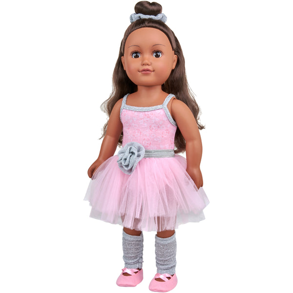"African American, My Life As 18"" Poseable Ballerina Doll"