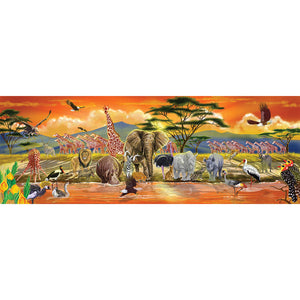 Melissa & Doug African Plains Safari Jumbo Jigsaw Floor Puzzle (100 pcs, over 4 feet long)