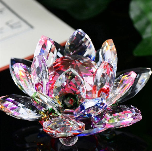 Crystal Lotus Flower Crafts Glass