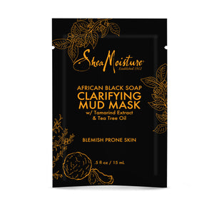 Black Soap Clarifying Mud Mask Packette