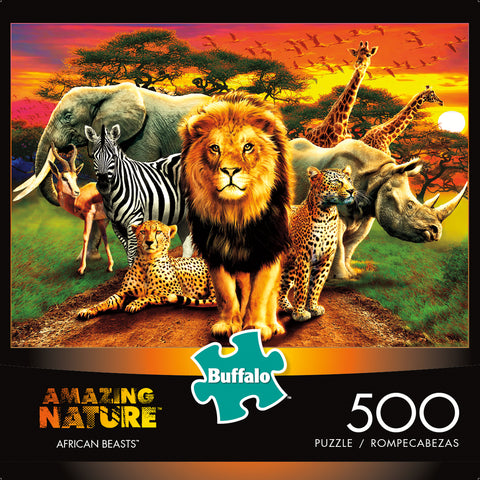 Buffalo Games 500 Piece Puzzle, Amazing Nature: African Beasts