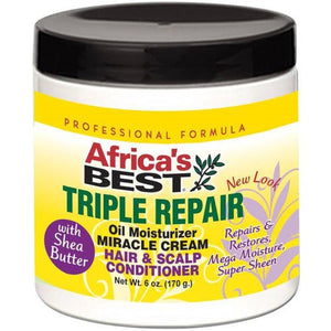 Best Triple Repair Oil Moisturizer, Miracle Cream Hair & Scalp Conditioner 6 oz