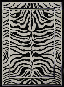 Home Dynamix Zone Area Rugs - 7160-450 African Bordered Exotic Zebra Rug