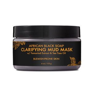 African Black Soap Clarifying Mud Mask (4 oz)