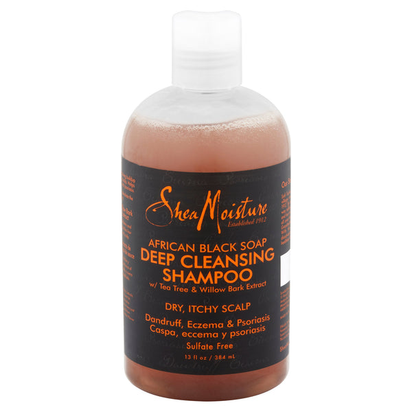 African Black Soap Deep Cleansing Shampoo, 13 Oz