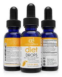 African Mango Diet Drops For Quick Weight Loss by Optimal Effects - Burn Calories And Take Control Of Your Appetite - Burn Unwanted Fat With All Natural Diet Drops
