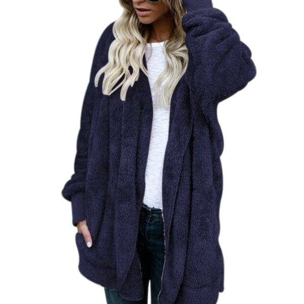 Nicesee Winter Warm Faux Fur Jacket Coat Fluffy Hooded OutwearNicesee Winter Warm Faux Fur Jacket Coat Fluffy Hooded Outwear