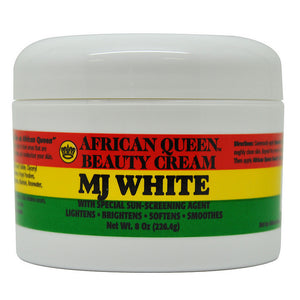 Afro Queen Beauty Cream MJ White 8 Oz / 226.4 g