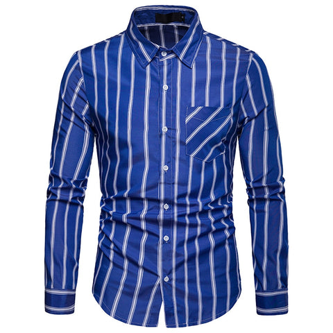 Fashion Brand Men Clothes Slim Fit Long Sleeve Shirts