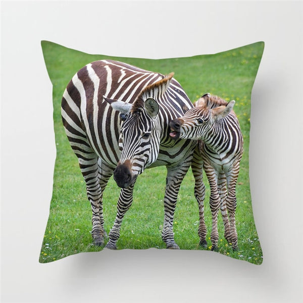 Zebra Animal Cushion Covers - Home Decor African Grassland
