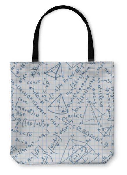 Tote Bag, Maths Pattern