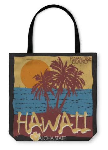 Tote Bag, Hawaii Tropical Beach Tshirt