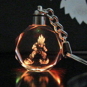 HOT Anime Crystal LED  Dragonball Z  (7 colors cycling) Keyrings Pendants