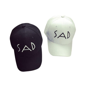 Embroidery Cotton Baseball Cap Hip Hop Hats SAD fashion Unisex Casual Adjustable cap hat