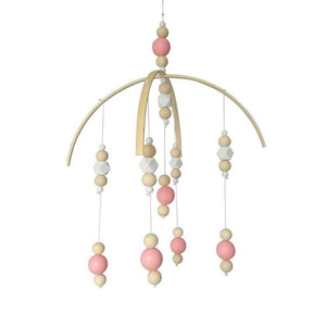 Nordic Style Wooden Beads Wind Chimes for Kids Room Baby Bed Hanging