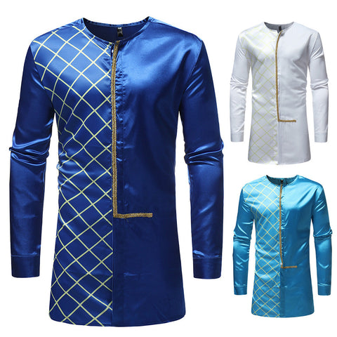 Men's Luxury Afro Long Sleeve of high quality Dress (Top Gifts)