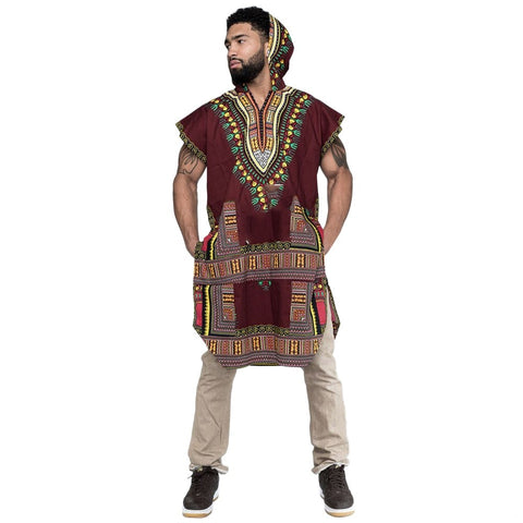 New Men's Hipster Hip Hop Afro Dashiki Hoodie Pollover