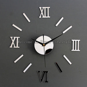 Modern DIY Interior Wall Clock 4 Style 3D Wall Stickers