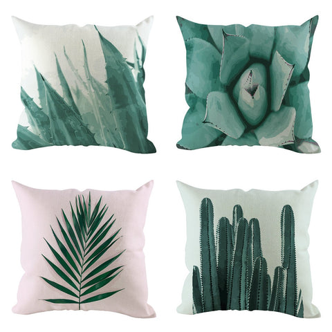 Stylish Plant Cushion Cover Linen Comfortable Pillow Covers Home Decor