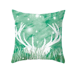 Stylish Simplicity Elk Pillow Cases Cover Polyester Soft Throw Pillow Case Home Decor