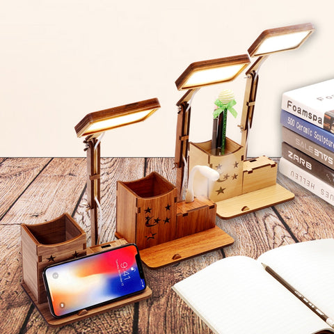 USB Folding LED Eye-protection  Mobile Phone Charging Stand Touchs Table Lamp Night Light