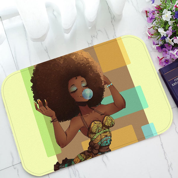 Afro Non-Slip Doormat Indoor/Outdoor/Bathroom 23.6 x 15.7 Inches
