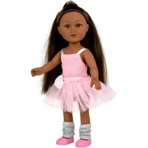 "My Life As 7"" Mini Poseable Ballerina Girl Doll, African American"