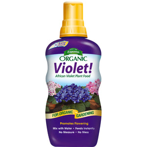 Espoma Organic Violet! African Violet Plant Food, 8 oz Concentrate