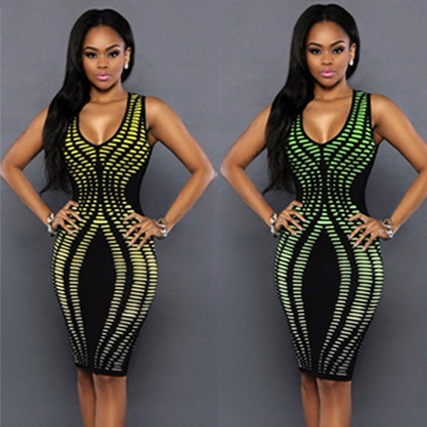 Fashion Sexy Women Dress Bandage Cocktail Sleeveless Bodycon Evening Party Dresses New