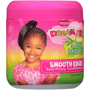 (2 Pack) African Pride® Dream Kids® Olive Miracle® Smooth Edges Hair Gel 6 oz. Jar