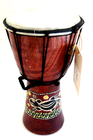 "Djembe Drum- African Percussion Drum, Bongo Hand Drum, 9"" , JIVE BRAND, Professional Sound"