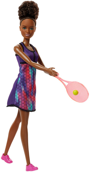 Barbie Tennis Player Doll with Brunette Hair, Tennis Racket & Ball