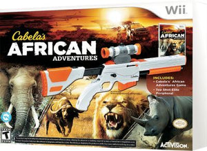wii cabela's african adventures bundle with gun