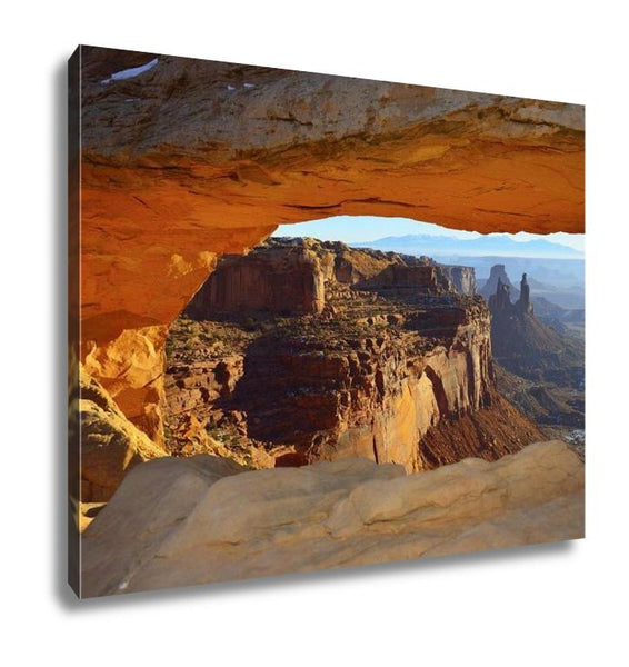 Gallery Wrapped Canvas, Mesarch In Canyonlands National Park Utah In Winter
