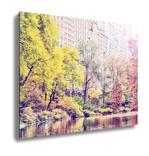 Gallery Wrapped Canvas, Central Park Autumn Manhattan Skyscrapers Instagram Effect Filter