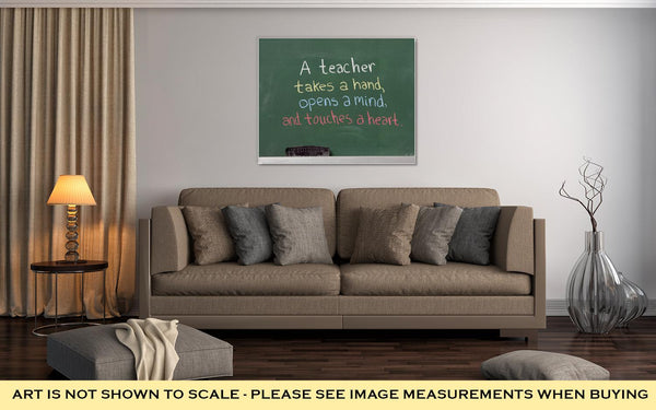 Gallery Wrapped Canvas, Inspiration Phrase Teacher