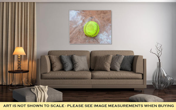 Gallery Wrapped Canvas, Softball Is A Variant Of Baseball Played With A Larger Ball On A Smaller Field