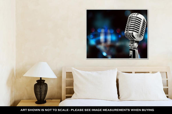 Gallery Wrapped Canvas, Silver Microphone
