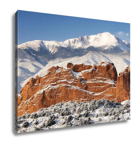 Gallery Wrapped Canvas, Pikes Peak And The Gardern Of The Gods