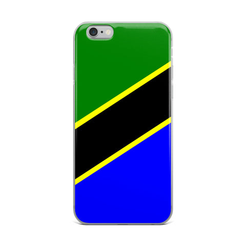 iPhone Case - Tanzania flag design.