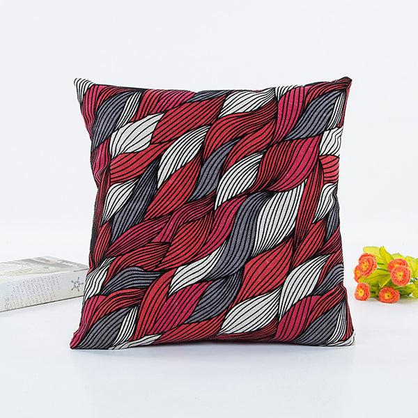 Geometric Patterns Polyeste Cushion Cover Throw Waist Pillow Case Sofa Home Deco