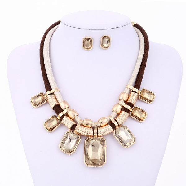 Gold Color African Jewelry Set