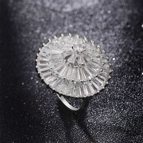Afro Umbrella Style Ring With 18K Gold/Platinum